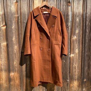 H&M Wool Blend Nova Finds Rust Brown Car Coat